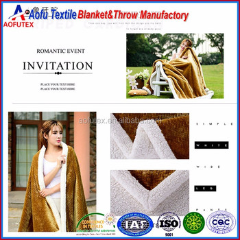 2.3m length 1.6 - 2.5m width two layer export quality berber fleece flannel cover blanket