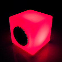 Dimmable RGB LED cube portable music player wireless bluetooth speaker led furniture with bluetooth speaker