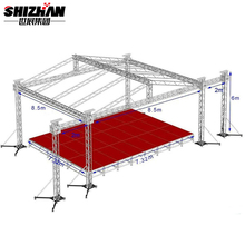 Easy assembling stage design decorative cheap metal roof truss for sale