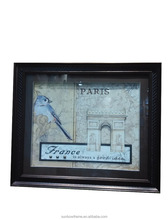 "Modern Design PS Trendy Picture Frame Large Size Bird Frame With Acrylic Diamond,Brown,28"" X 28"" X1.5"""