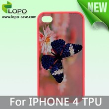sublimation phone covers soft Sillicon for Iphone 4