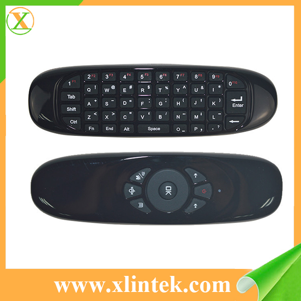 2.4G chargable Dual Side 3D wireless Air Mouse mini keyboard C120 air mouse remote