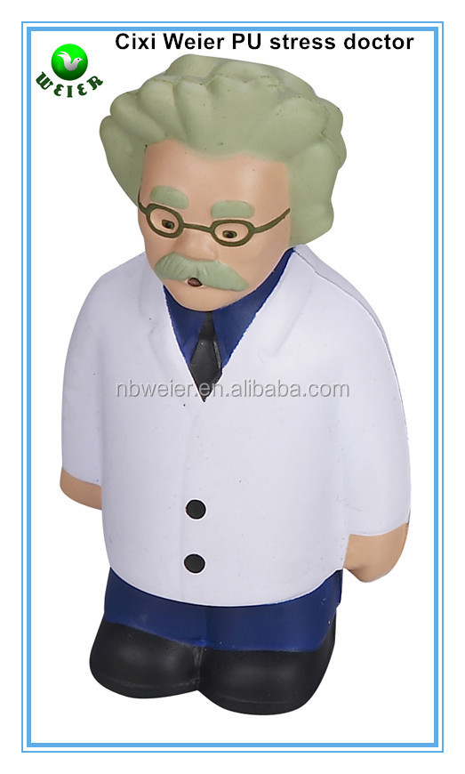 10.9x6.1cm PU toy doctor shaped stress <strong>ball</strong>/soft toy PU stress doctor shape for kids&adults/soft gifts PU foam stress doctor