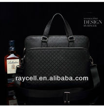 "Newest fashion arrival high quality cow leather men design briefcase for 14"" laptop with whosale factory price in 2013"