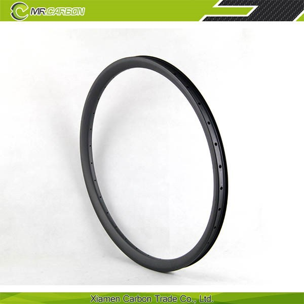 china mtb carbon 26er rims with 33mm wide Hookless 26 inch carbon mtb rim 24h