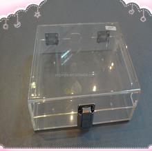 2015 new style high quality acrylic box with lock acrylic box with lock Manufacturers custom-made Storage and display box