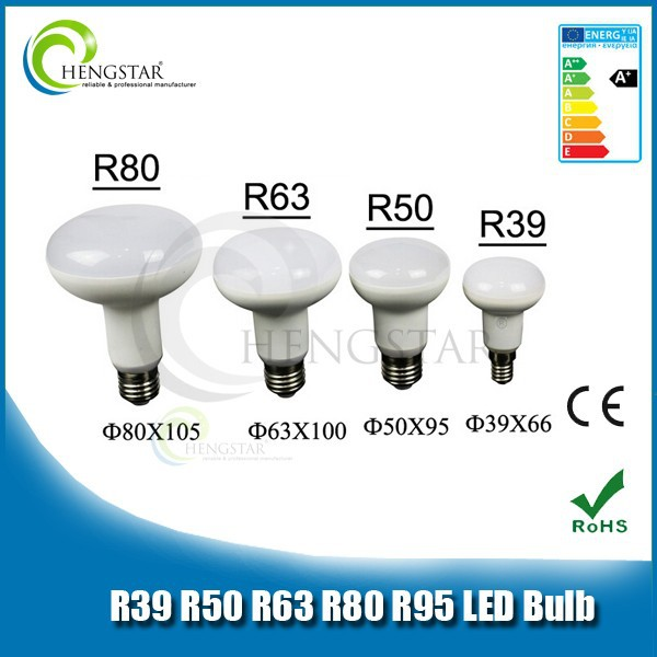 Safe use r50 plastic outside led bulb light long lifetime e14/e27 base 180 degree,220v led r50 plastic bulb light