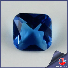 Aquamarine Color Square Man Made Blue CZ Diamond