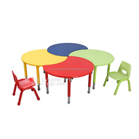 Children Wooden Moon Shape Tables Furniture