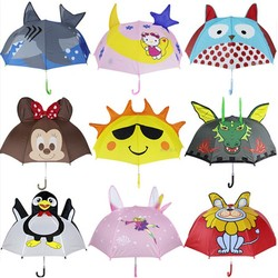 New ideas 19- inch animal ear shaped printing child/kids umbrella