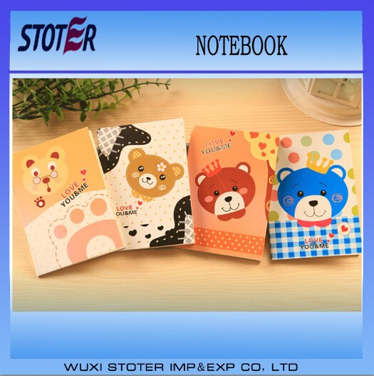 New fashion kawaii paper notebook,lined notebook paper