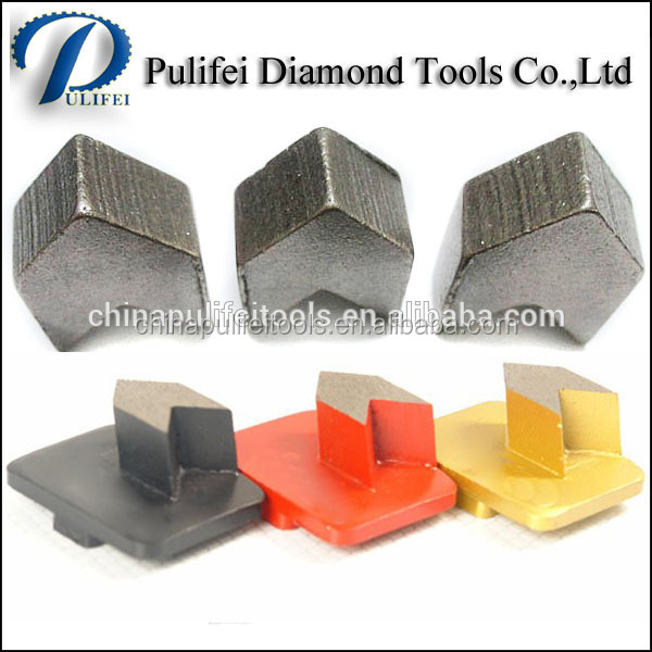 Arrow Shape Grinding Segment for Diamond Grinding Head For Concrete Welded On HTC /Trapezoid Grinding Shoes