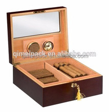 Custom design luxury handcrafted wooden packaging cigar storage box