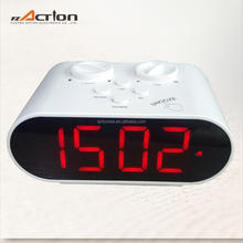 LED Display Brightness Control Clock With two Rotary Button Setting