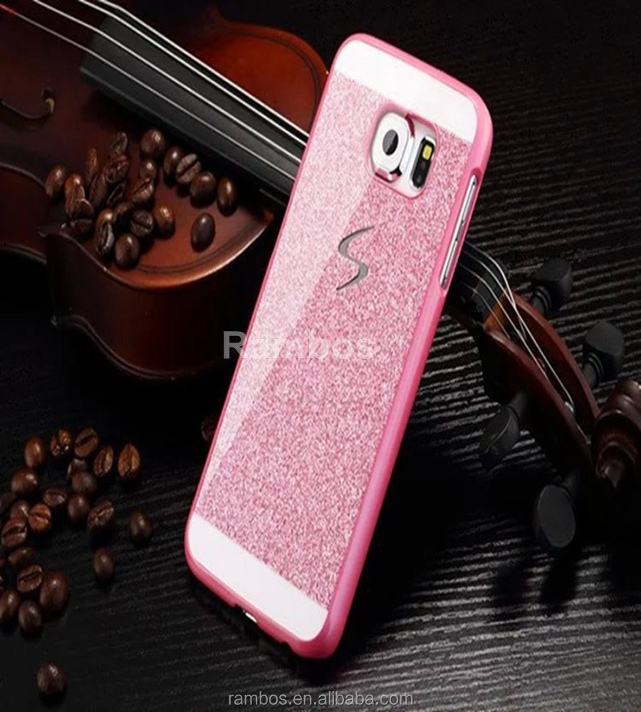 Bling Design Plastic Hard Shell Sparkle Cell Phone Glitter Case Back Cover for Samsung Galaxy Note 3 Note 4 A3 A5 A7