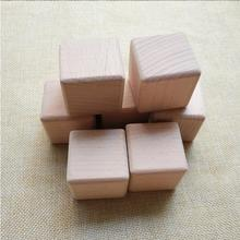 "38mm Solid Wooden Cubes Beech Wood Blocks 1.5"" round edge wood cube safe for kids"