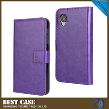 Yexiang new crazy horse design leather flip case cover for lg f60 cheap mobile phone accessory