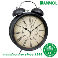 wholesale antique metal twin bell table alarm watches clock / relojes