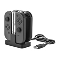 Unique Clear 4in1 Joy-con Controller Charge Stand With USB Type-C Cable For Nintendo Switch