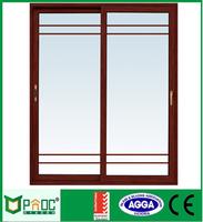 modern aluminum profile double glass barn style sliding door hardware