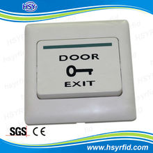White plastic material push to door exit buttons switch