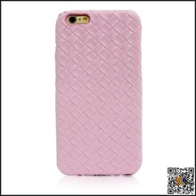 hot selling fashionable weave pattern leather protective case for iPhone6