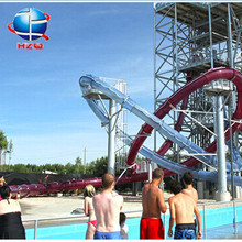 Best quality single spiral water slide+new arrail big water slides for hot sale