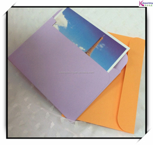 Promotional custom standard size colorful postcard specialty paper envelope printed