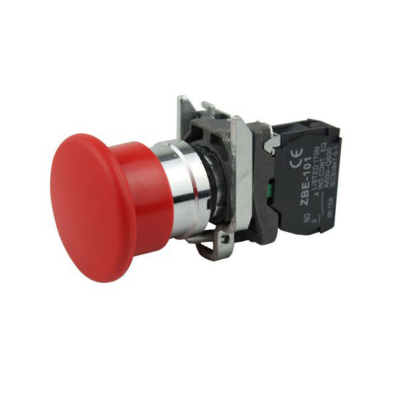 XB2 XB4 1NO BC21 BC31 BC51 BC61 BC42 BC35 BC45 22mm Momentary Emergency Stop 40mm Mushroom head push button switch