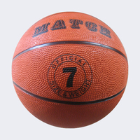 Factory sales rubber basketball size 7 for promotion