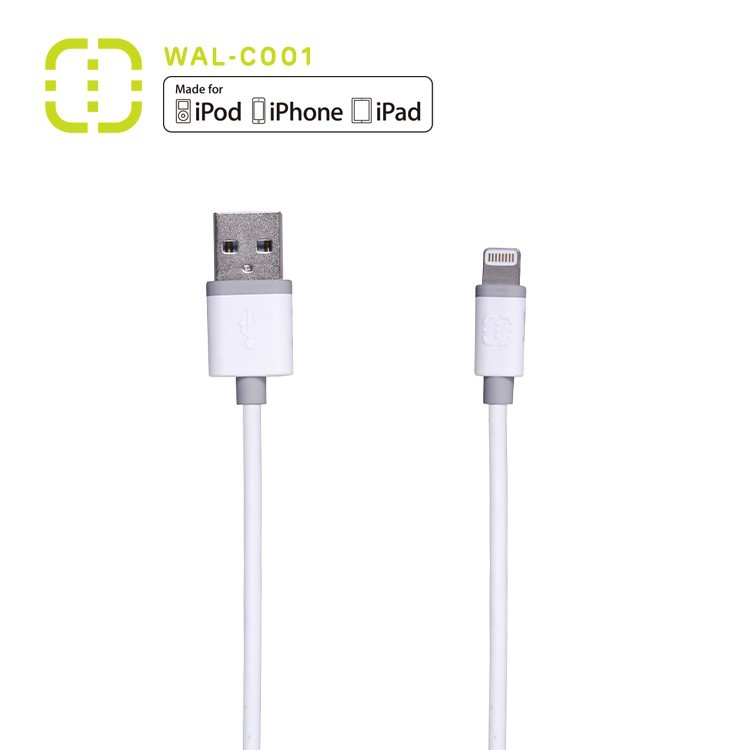2015 walnut for iPhone 5 iPhone 6 mfi certified colorful 8 pin data sync cable
