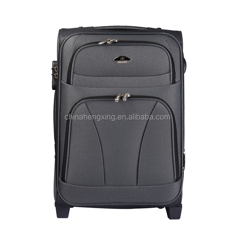 nylon soft luggage ,carry on soft travel luggage ,black light weight suitcase Z710