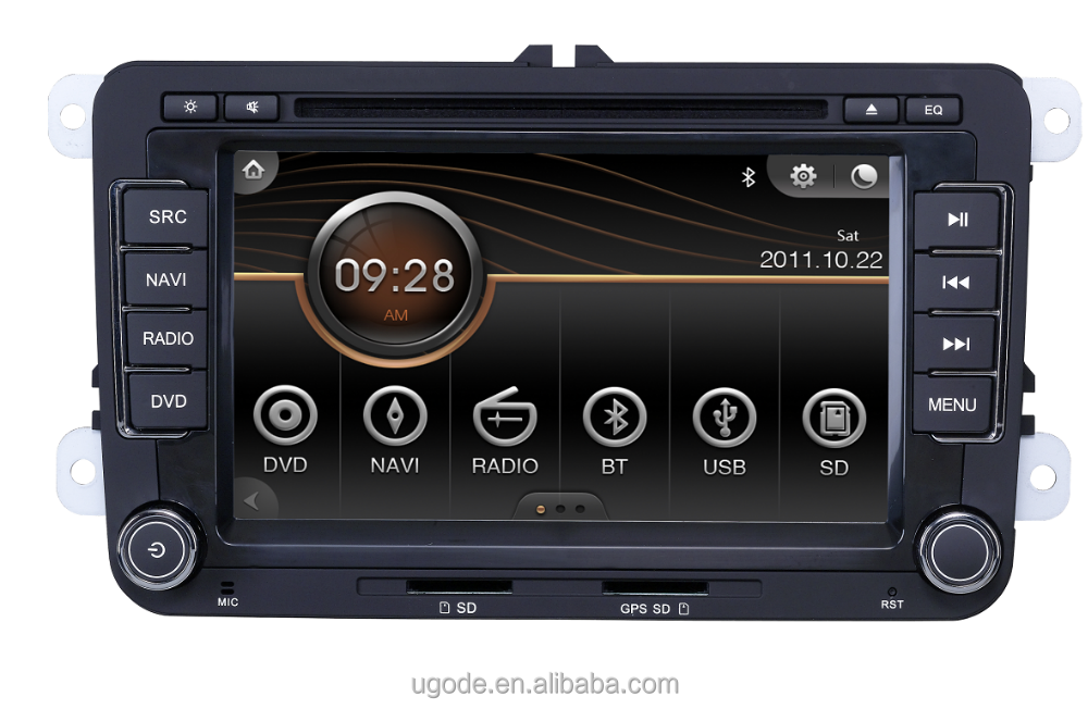 ugode auto dvd player autoradio gps navigation bt usb f r. Black Bedroom Furniture Sets. Home Design Ideas