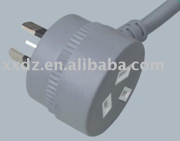 Piggyback plug Power Cord
