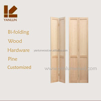china supplier American design solid pine wood bi-folding 2 door wardrobe