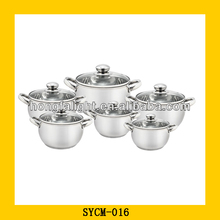 Wholesale 12pcs stainless steel plastic casseroles hot pot