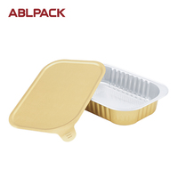 ABL 320ML/10.7oz Hot Food Container Disposable Household Aluminum Foil Tray For Packaging