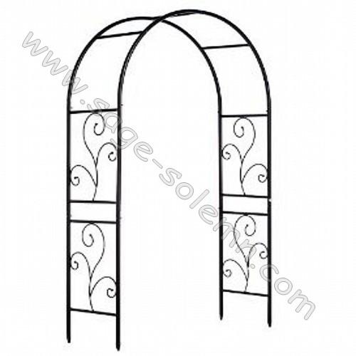 Arco de metal de hierro forjado espaldera cenador de for Arcos de jardin