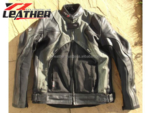 Motor bike leather jacket vintage racing leather jacket for mens