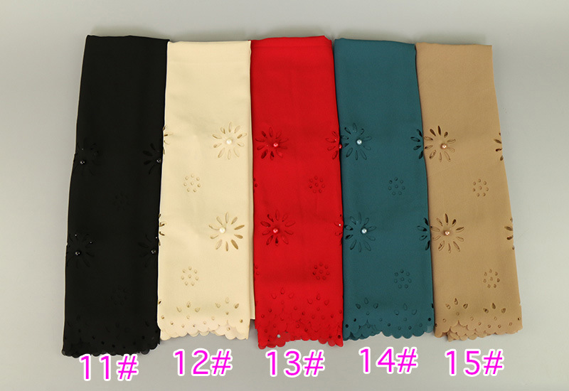 Top Seller Pearl Chiffon Lurex Scarf Shawl Best Price Turban Muslim Hijab