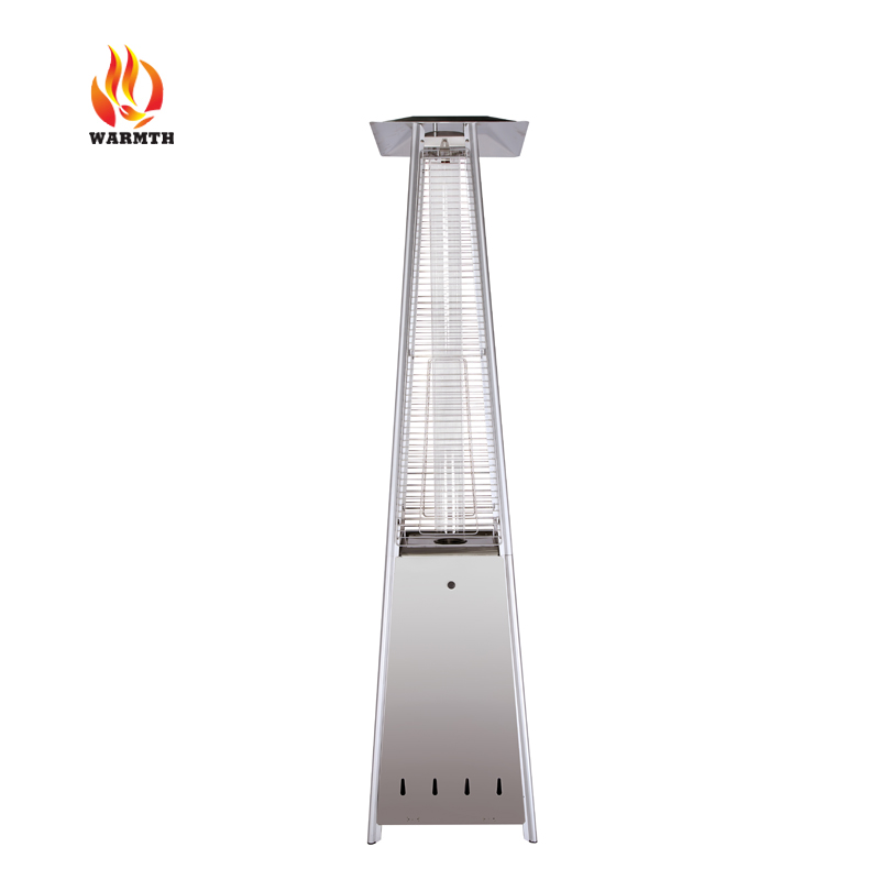 44000BTU Gas Patio Heater China Supplier, Square pyramid patio heater in stainless steel