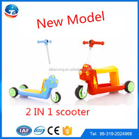 3 wheel children 2 in 1 kick scooter for kids/cheap balance baby push pro kick scooter for sale