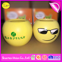 a potted plant new style creative, yellow smile face design mini potted plants