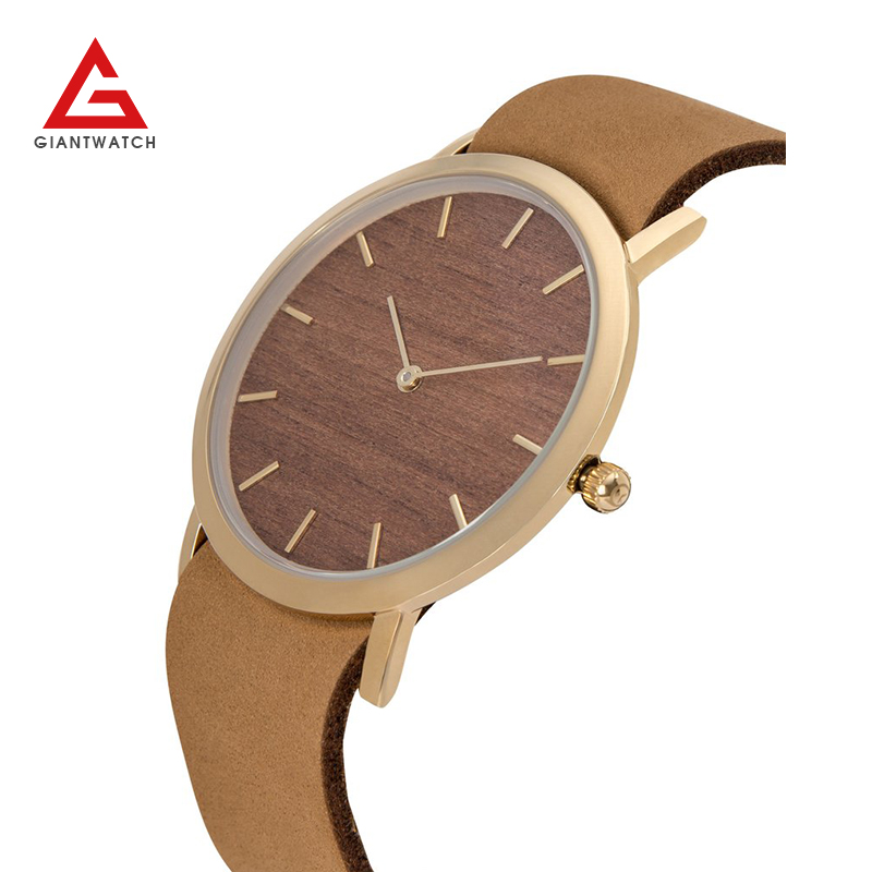 2017 Japan Quartz Movement vogue wrist watch men and women wood watch