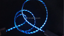 Wholesale new water emission data line data cable for Apple chasing light with LED streamer phone line