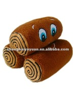 Funny small soft round log plush toys