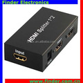 Supports 3D 1080P HD splitter 1 in 2 out HD splitter HDCP 1.2 Protocol Compliant