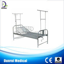 CE Pass Stainless Steel Cheap Folding Metal Single Hospital Bed