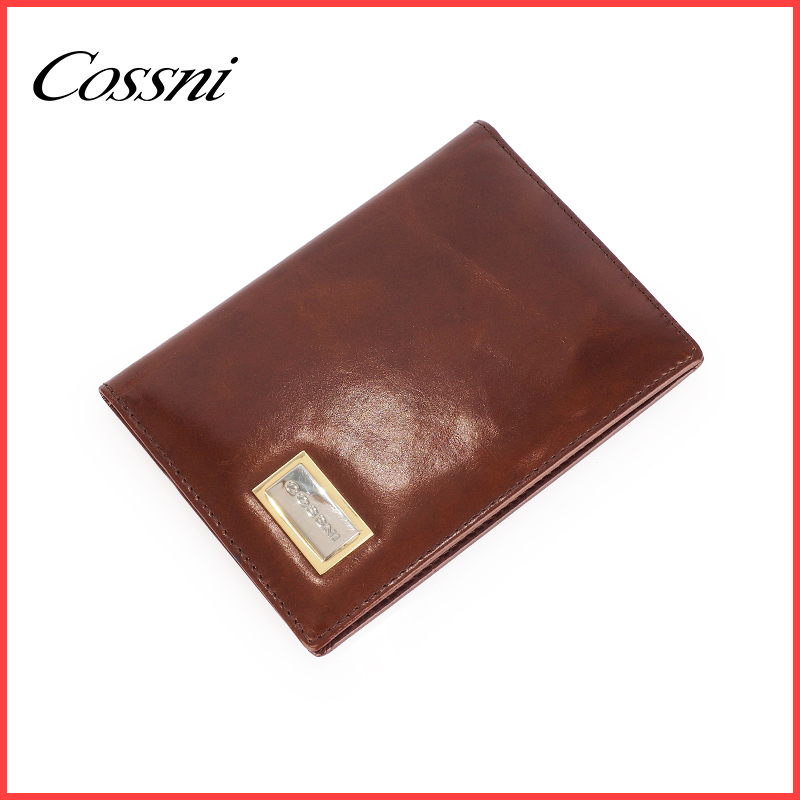 Business men pocket genuine leather id card credi cards album name card wallet for promotiom gift
