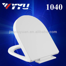 1040 d shape pp soft close wall hanging toilet seat
